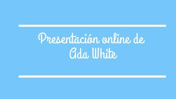 Presentación online de Ada White, ganadora del premio Kamadeva 2019